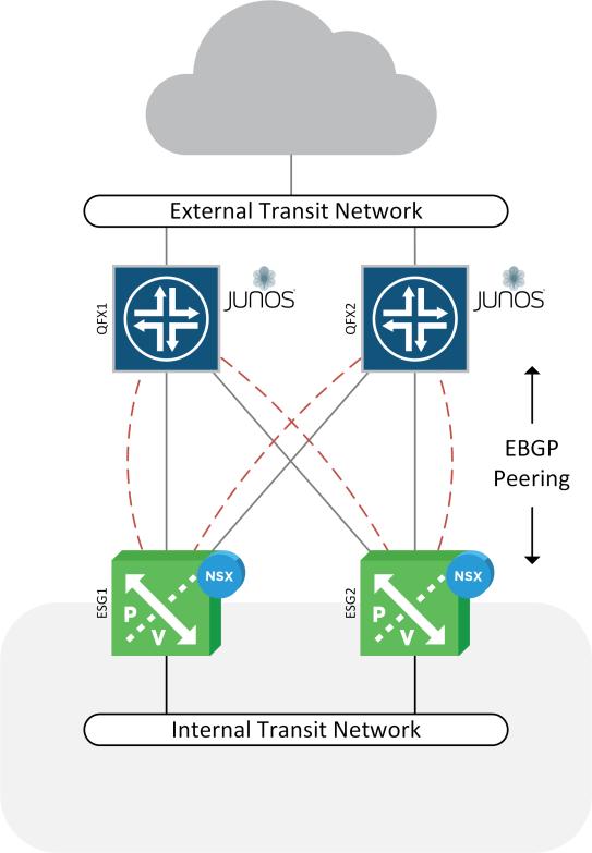 NSX Juniper BGP